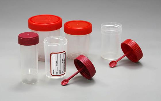 контейнер для анализов с ложечкой