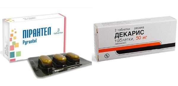 Механизм действия препаратов Декарис и Пирантел