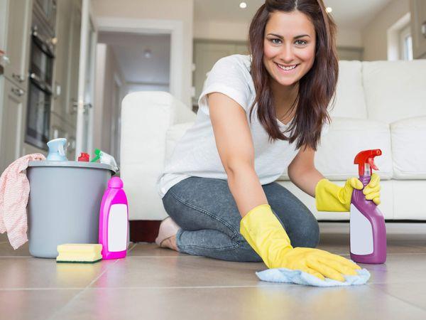 Влажная уборка для профилактики глистов