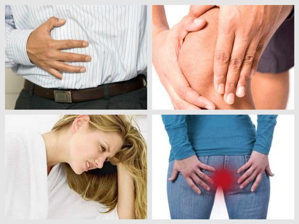 Симптомы, зависящие от вида паразита