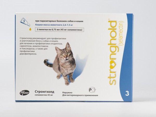 капли на холку стронгхолд для кошек
