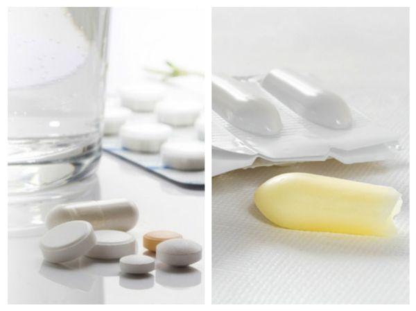 лечение таблетками и вагинальными свечами