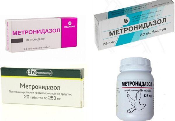 Таблетки метронидазола разных производителей