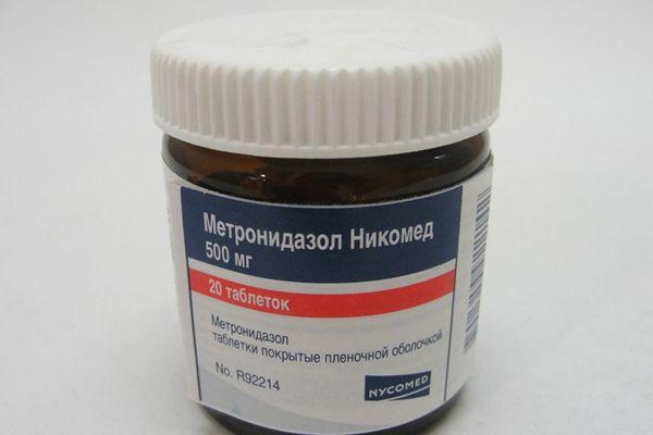 Метронидазол в таблетках