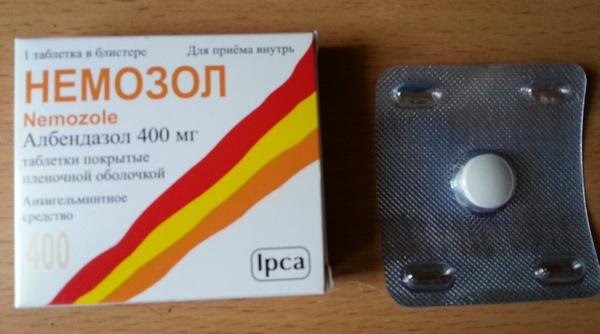 Таблетки Немозол для борьбы с паразитами