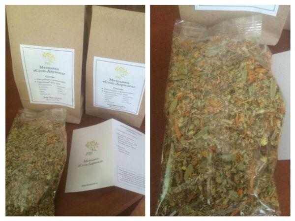 травяной чай в пакете против паразитов