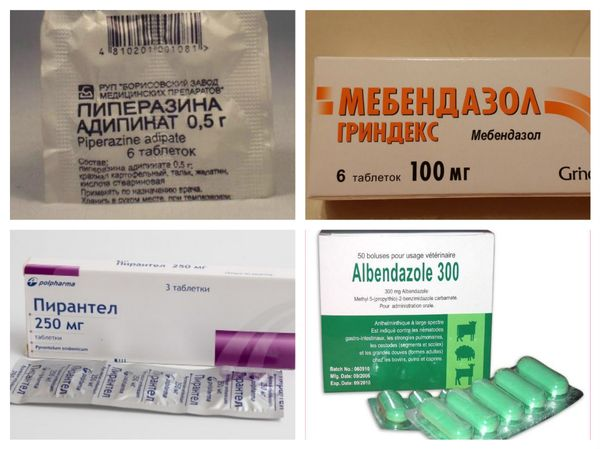 Препараты для терапии нематодозов, в частности, энтеробиоза