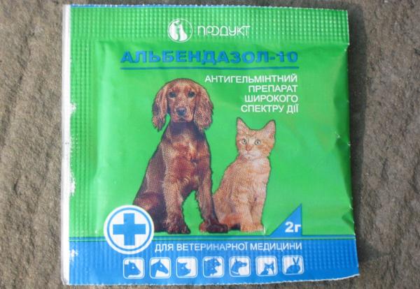 Альбендазол от глистов для животных