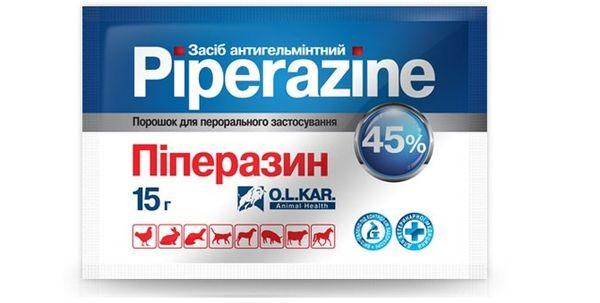 Лечение гельминтозов Пиперазином