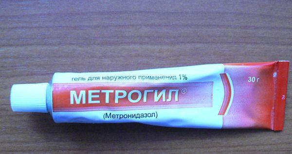 Метрогил гель применение